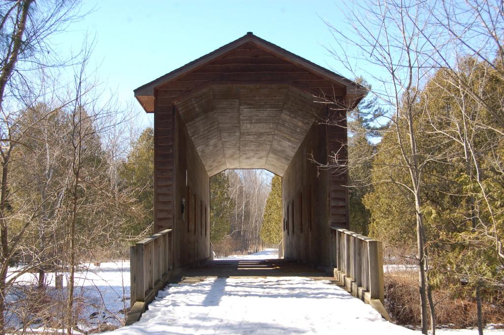 Deerfield Nature Park Wooden Bridge
