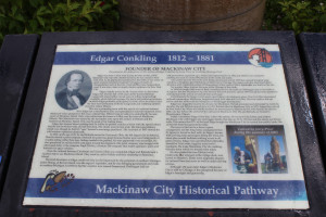 Edgar Conkling Plaque Mackinaw City