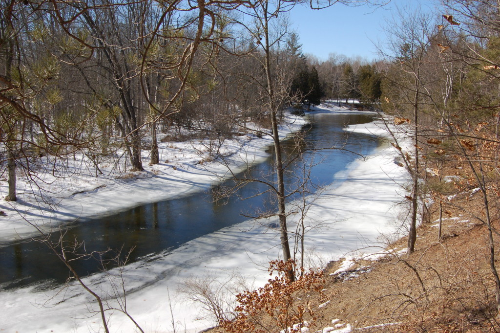 Frozen River Deerfield Nature Park