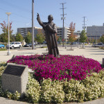 Michigan Roadside Attractions: Bishop Frederic Baraga Statue in Grand Rapids