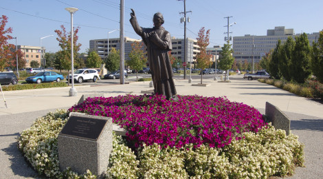Michigan Roadside Attractions: Bishop Frederic Baraga Statue in Grand Rapids