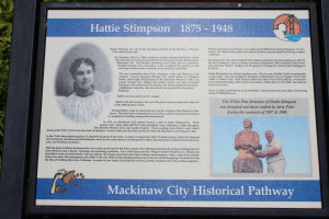 Hattie Stimpson Mackinaw Historic Pathway