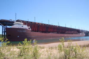 James Oberstar freighter Marquette Ore dock