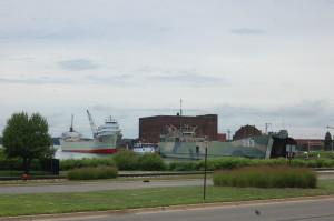 LST 393 Muskegon Port Terminal