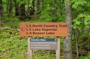 Pictured Rocks Beaver Lake Sign