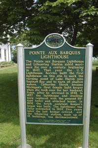 Pointe Aux Barques Lighthouse Marker MI
