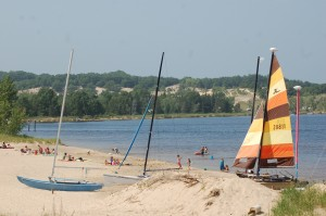 Sailboat Beach Muskegon Michigan