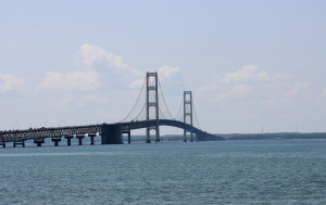 St. Ignace Bridge View Park Michigan Mackinac
