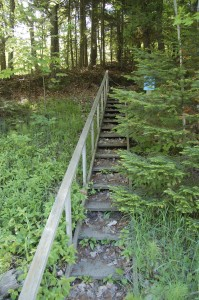Stairs to Tannery Falls Munising