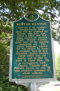 Buster KEaton Historical Marker Michigan