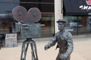 Buster Keaton Feature Photo Muskegon Statue