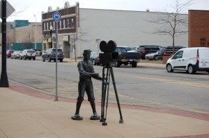 Buster Keaton Statue Downtown Muskegon