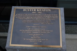 Buster Keaton Statue Plaque Muskegon