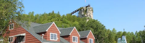 Michigan Roadside Attractions: Castle Rock in St. Ignace