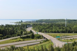 Castle Rock St. Ignace I-75 View