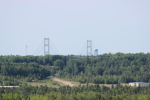 Castle Rock St. Ignace Mackinac Bridge