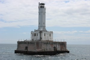 Grays Reef Lighthouse Close Up