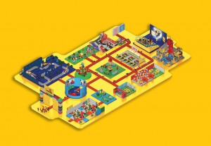 Map Legoland Michigan