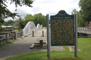 Mottville Bridge Michigan Historical Marker