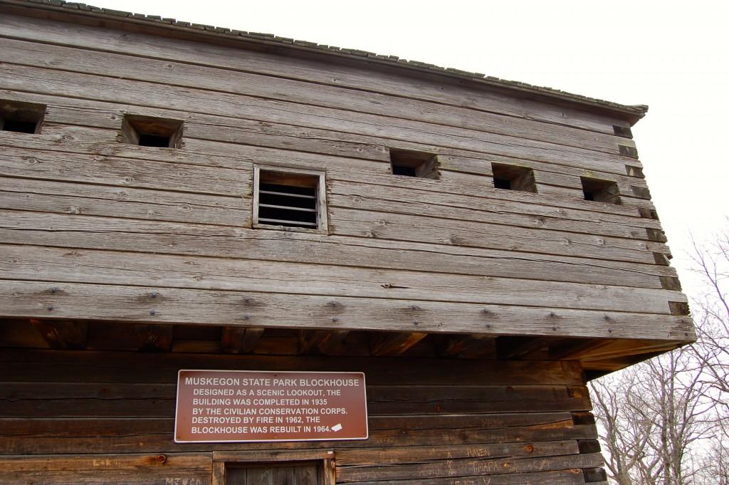 Muskegon State Park Blockhouse Sign