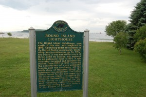 Round Island Lighthouse Michigan History Marker