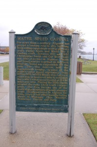 Algonac Water Speed Capital Michigan Marker
