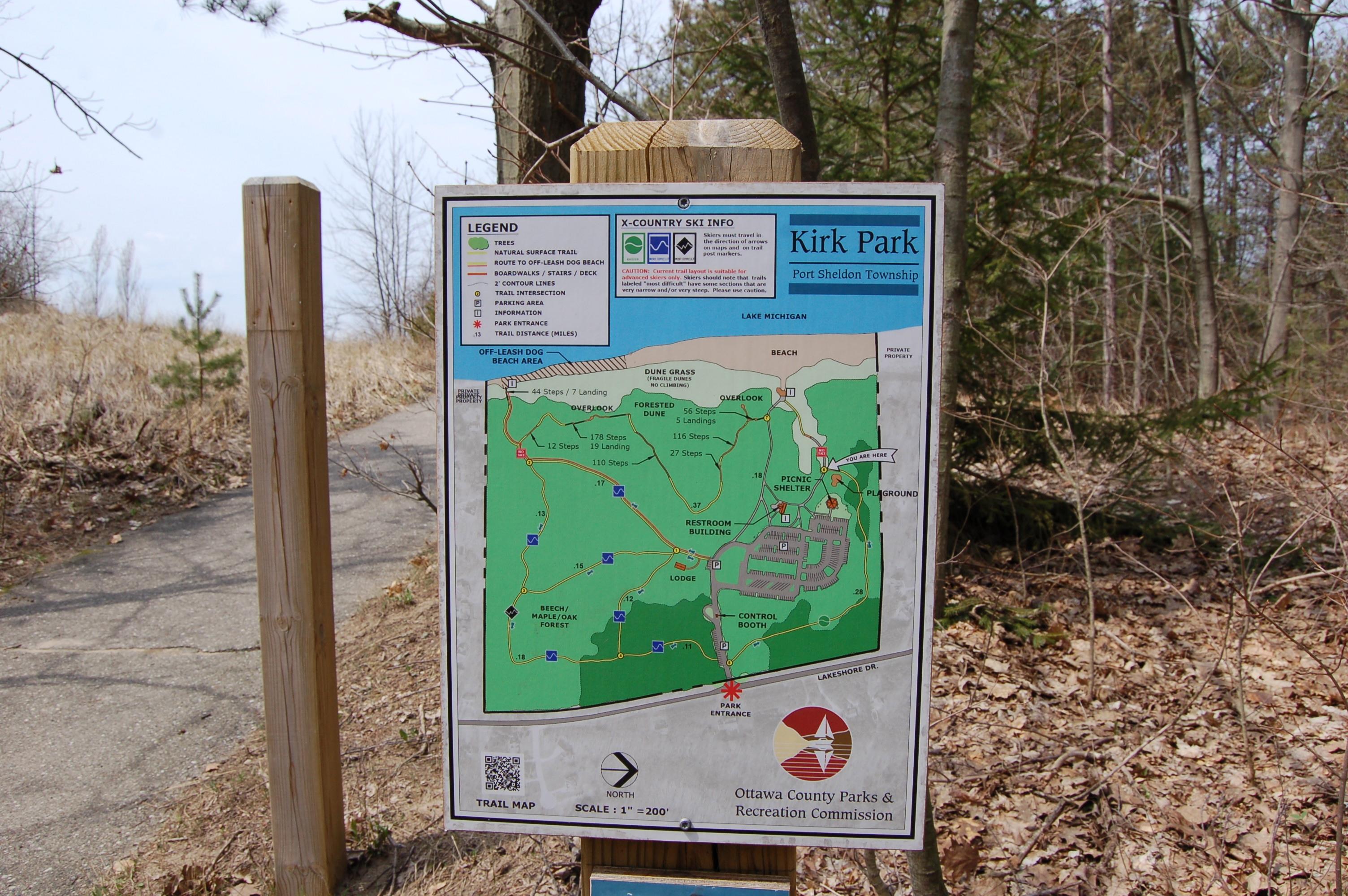 Kirk Park Trail Map