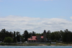 Old Mackinac Point Lighthouse From Water