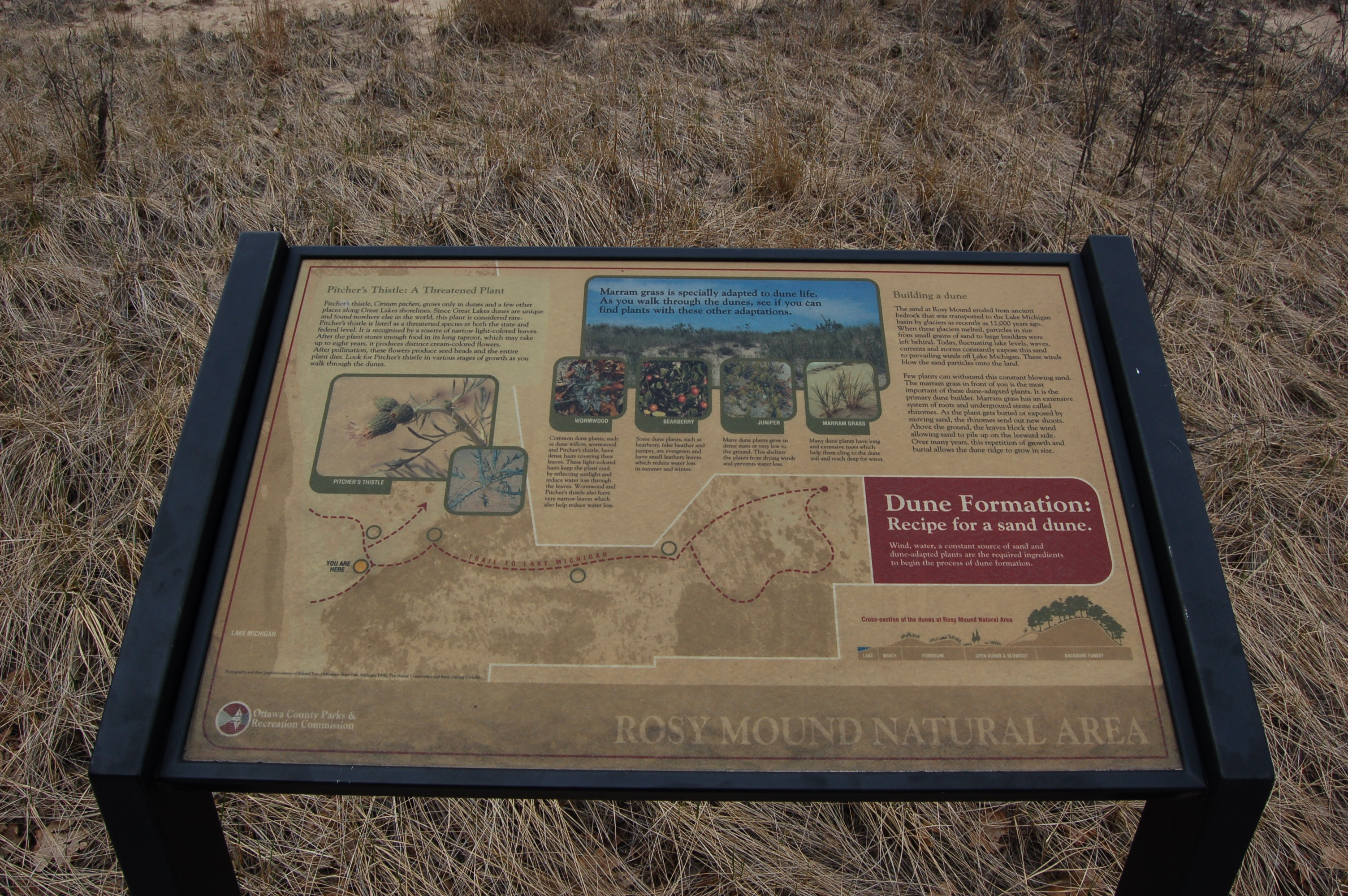 Rosy Mound Info Sign 1