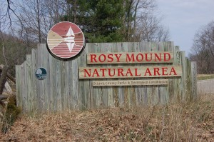 Rosy Mound Natural Area Sign