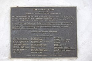 The Turning Point Statue Plaque