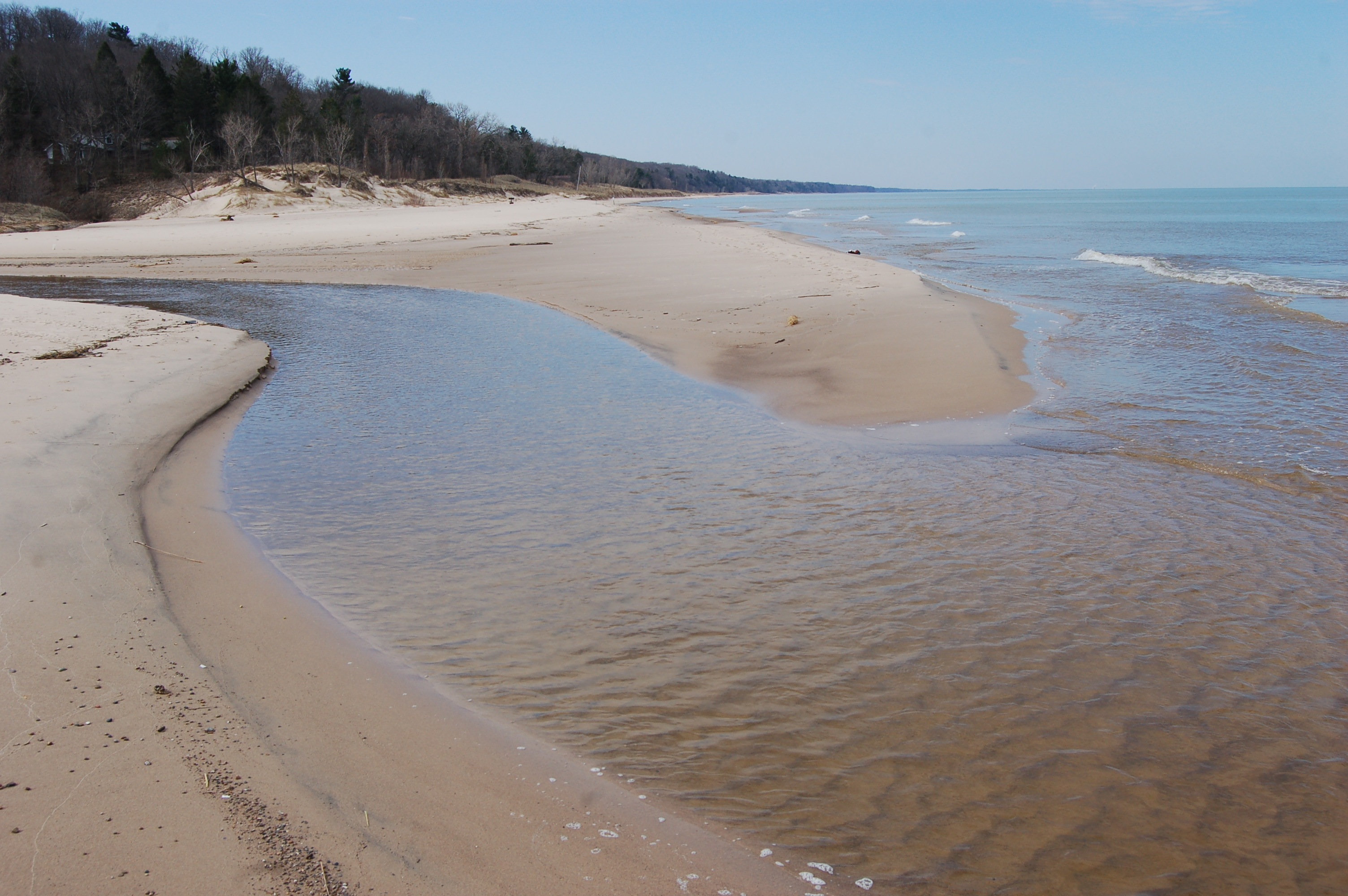 Warren Dunes State Park Creek Lake Michigan