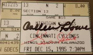 Gordie Howe Autograph Ticket