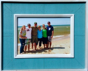 Justin Caine with his wife, dad, step-mom, step-sister, and brother-in-law in Ludington