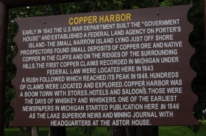 Copper Harbor Sign