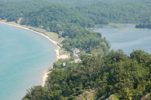 Empire Bluffs Robert H. Manning Lighthouse View