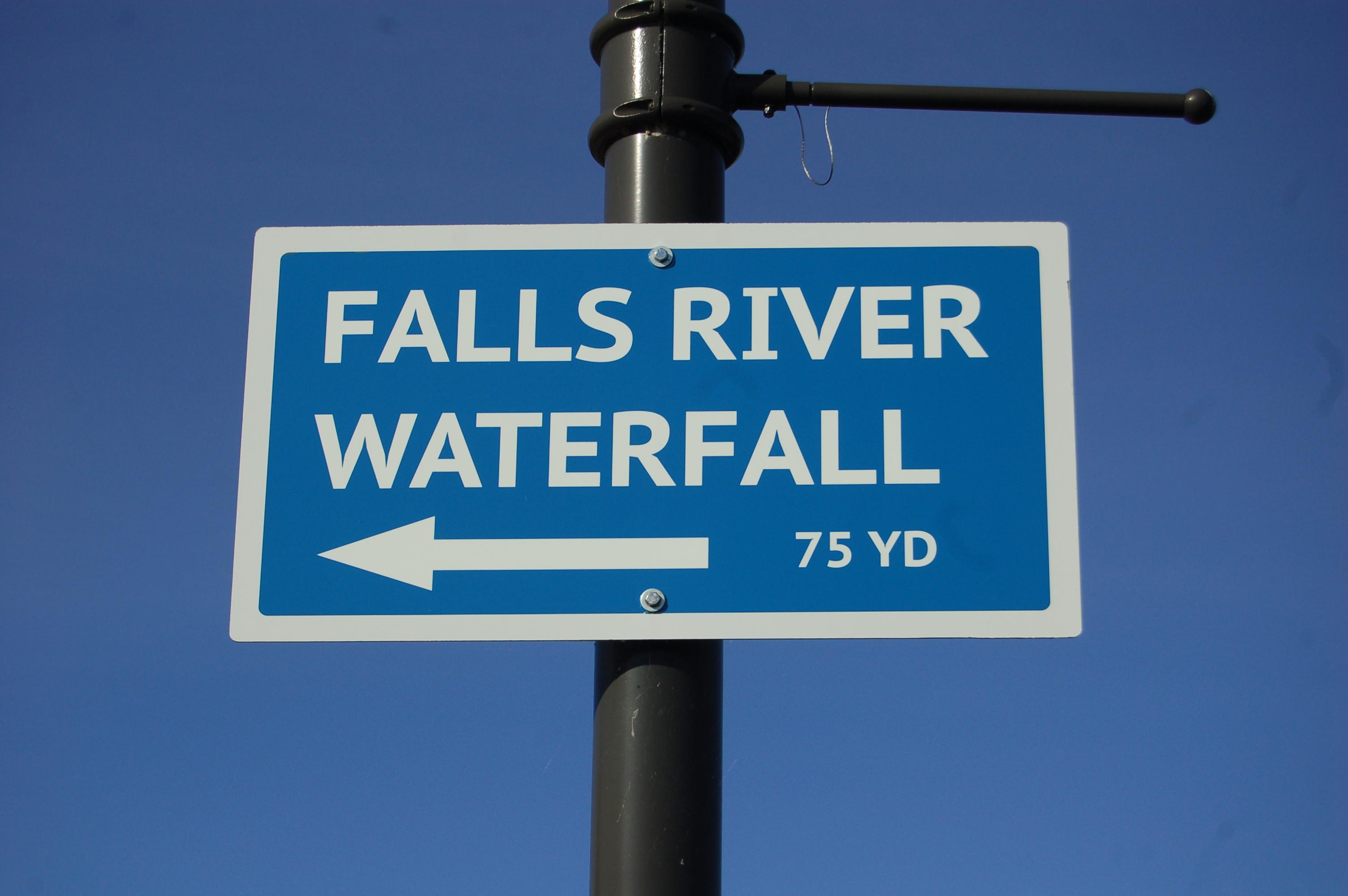 Falls River Falls Sign