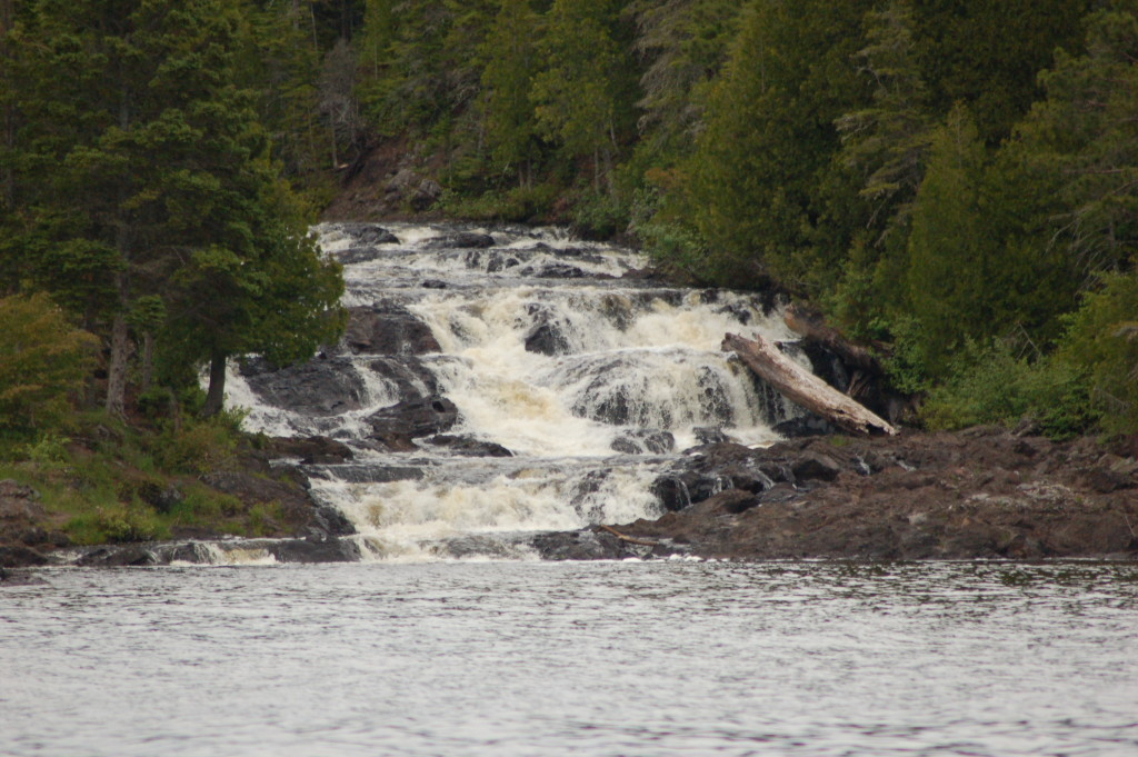 Sand Point Charters Waterfall Montreal River Michigan