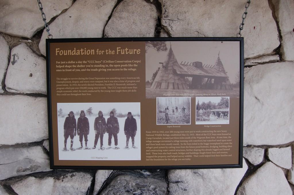 Seney National Wildlife Refuge CC information Sign