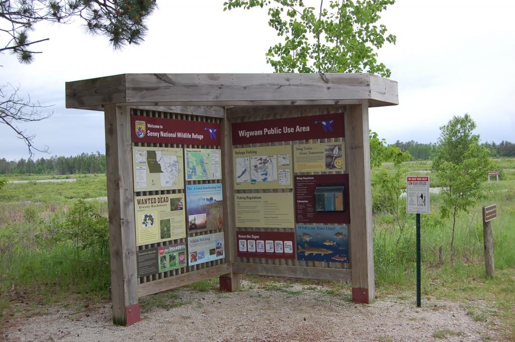 Seney National Wildlife Refuge Information Sign