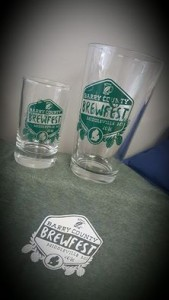 Barry County Brewfest T Shirt Pint Glass