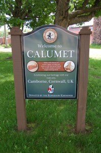 Calumet Welcome Sign Sister City