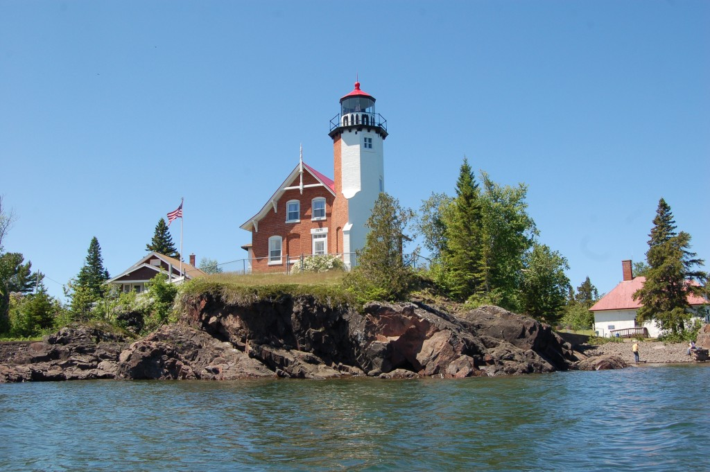Eagle Harbor Lighthouse Lake Superior Michigan Kayak