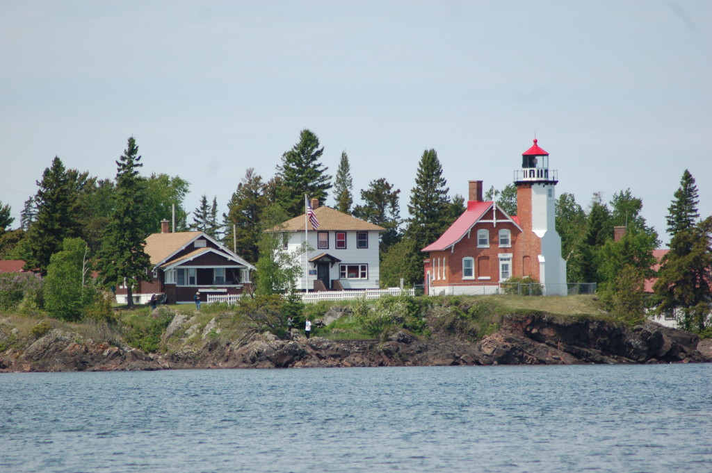 Eagle Harbor Lighthouse from Coast Guard Station