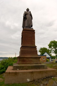 Father Jacques Marquette Statue Vertical