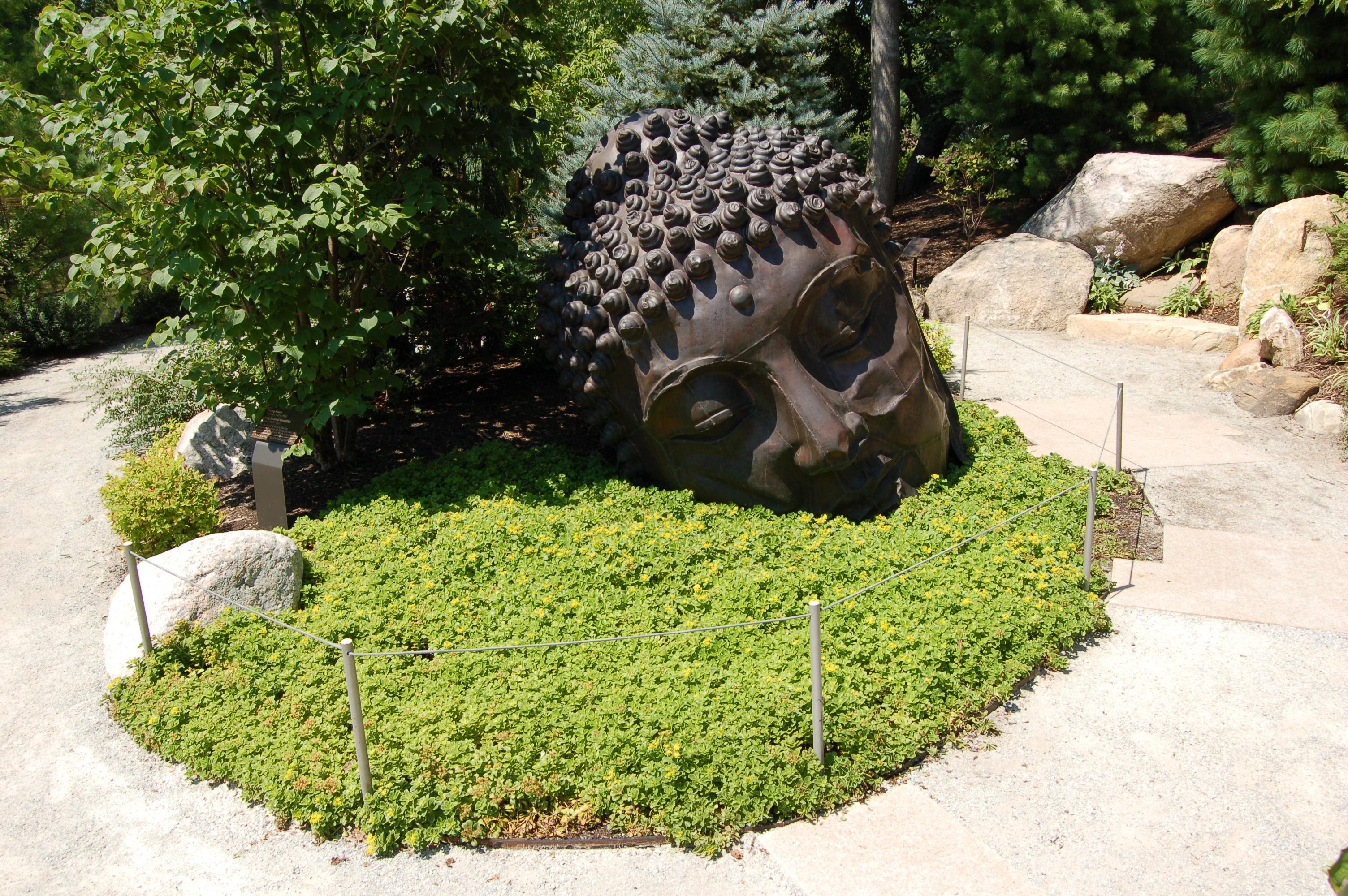 frederik meijer gardens buddha head japanese gardens - Frederick Meijer Garden