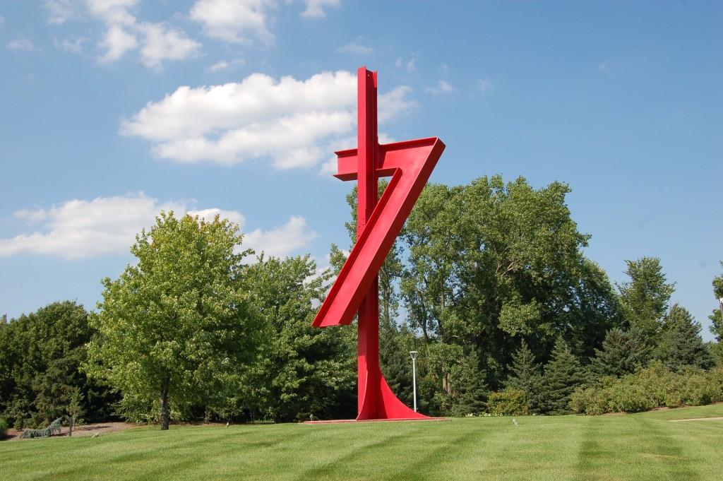 Frederik Meijer Gardens Red Entrance Sculpture
