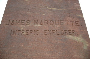 Jacques Marquette Statue Base Side
