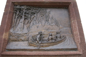 Jacques Marquette Statue MI Carving