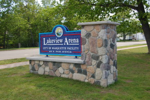 Lakeview Arena Sign Marquette MI